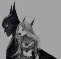 Batman and Batgirl by SnowGem