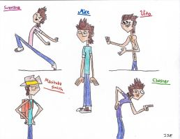 Mike And his Multi-personalities by kesha18Anime17