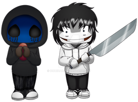 Jeff The Killer y Eyeless Jack en peque by Ixcuinan