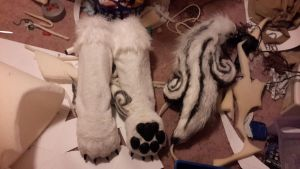 Finished armstilts and tail by okami-wildclaw