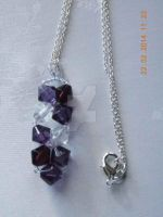 Crystal bicones pendant necklace by Quested-Creations