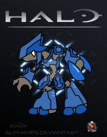 Halo- Elite Minor Chibi by alphanite