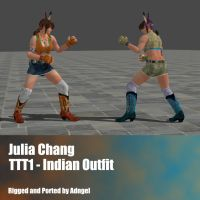Julia Chang TTT1 Indian Outfit by Adngel