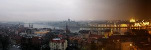 Budapest day to night Panorama by ArtSpawnGr
