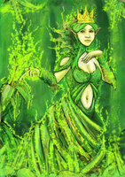 Rare Elven card from Tales of Taelora by 4Fumiaki4