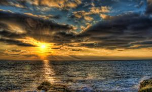 Sunset Cliffs HDR by Creative--Dragon