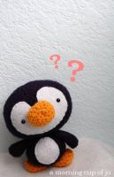 Monty the Inquisitive Penguin by amorningcupofjo