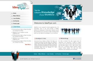 Idea Flyer website design by artistsanju