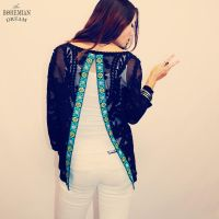 Upcycled Eco Friendly Bohemian Open Split Back Top by TheBohemianDream