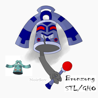 Bronzong as a Ghost type