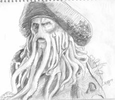 Davy Jones Sketch 2 by Swashbookler