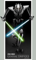 General Grievous Vector Fanart by forkiu