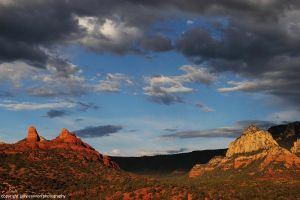 Stormy Red Rock Sunset by worldtravel04