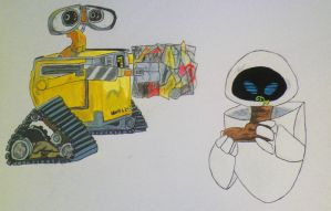 Wall-e and Eve by Sakuras-Light