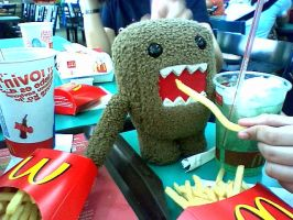 DOMO-KUN LOVES IT by kowan