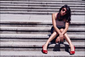 red shoes by ClarissaSchwarz