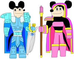 DisneyRoleplay-Earth Mickey and Minnie by jacobyel