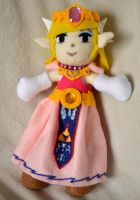 Spirit Tracks Zelda Plush Full by Xandyr