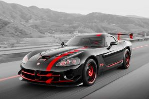 Red Dodge Viper Neon by SilverThornz