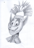 King Julien pencil drawing by KingJulienFangal