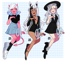 b/w cutie adopts [CLOSED] by ayaben