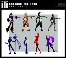 Cirque Costume Concepts by lrose96799