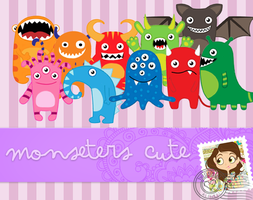 MONSTERS CUTE PNG by alenet21tutos