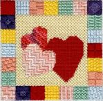 Hearts in a Box Needlepoint by WingsandRings