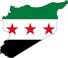 Syria Map Flag by Saint-Tepes