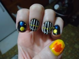 Giotto Inspired Nail Art--Left by pockyXbandit