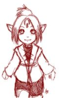 Lalafell Sketch by priestessofpie