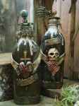 Gothic Twin - Mixed Media Bottle Art by LuthienThye