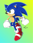Sonic- Sonic X style by Rapid-the-Hedgehog