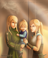 .:Commission:. Aran Family by Anilede