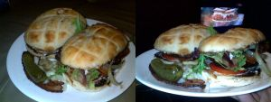 Lamb burger with the works by Wolfie-83