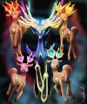 Four Stantlers of Xerneas by Eeveetachi