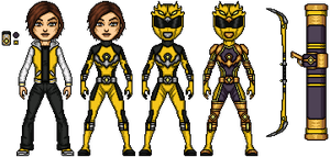 Rayne The Yellow Wind Ranger by RavenintheFlames