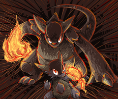 pokeddexy 29 scariest pokemon - mega kangaskhan by Peegeray