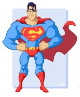 Super-Toon Superman Redux by kevinbolk