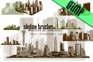 GIMP: Skylines by hawksmont