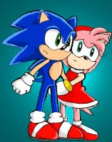 Sonic and Amy by Segavenom