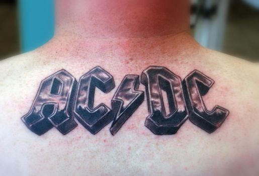 ac dc the band by gettattoo