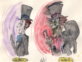 Jekyll and  Hyde by DemonCartoonist