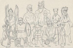Fantasy characters by cavaleiroviking