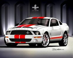 Shelby GT500KR White Red Stripe by lovelife81