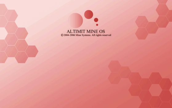Red ALTIMIT Mine OS Wallpaper by Osama35