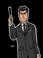 DSC 2012-03-14 Sterling Archer by theEyZmaster