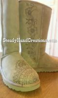 Customized Ugg boots by SteadyHandCreations