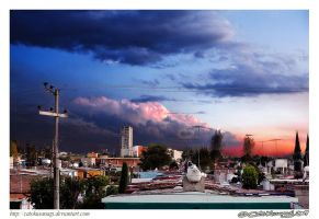 Day 133: Sunset in my Town by CatoKusanagi
