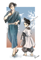 Yato and Ebisu from the past by b-snippet